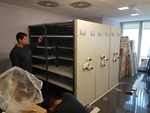 Mudanza de archivos en consellería de sanidad de Valencia