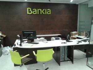 Montaje oficinas bankia por Mudanzas CPT